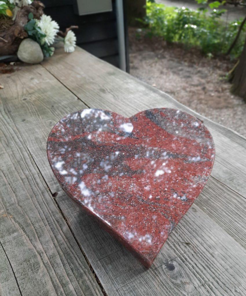 Granieten Hart Rubi Red